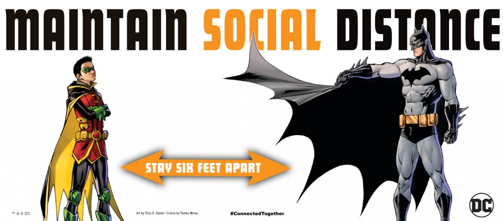 DC Maintain Social Distance Poster - Batman and Robin