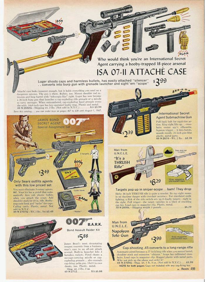 Secret Agent Themed Page From Sears Catalog, Christmas 1966
