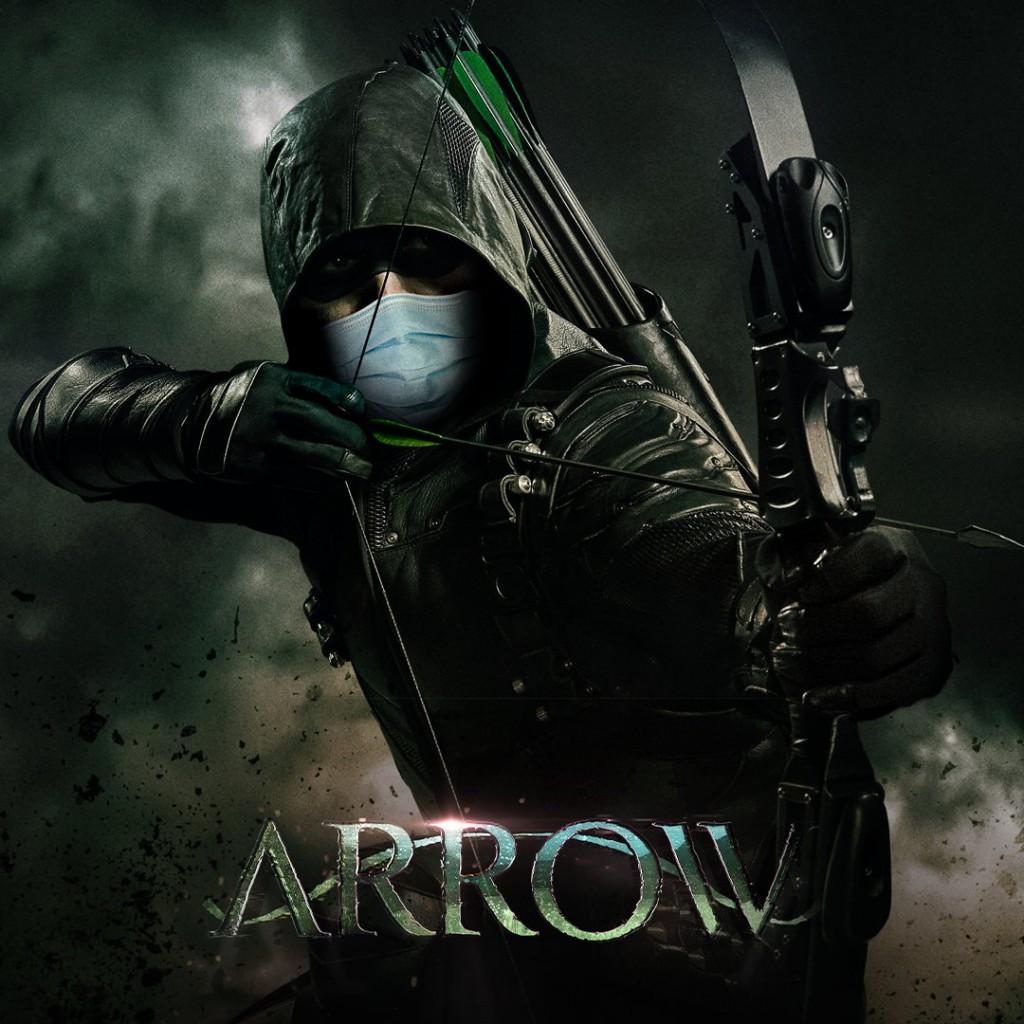 Arrow Wearing Mask