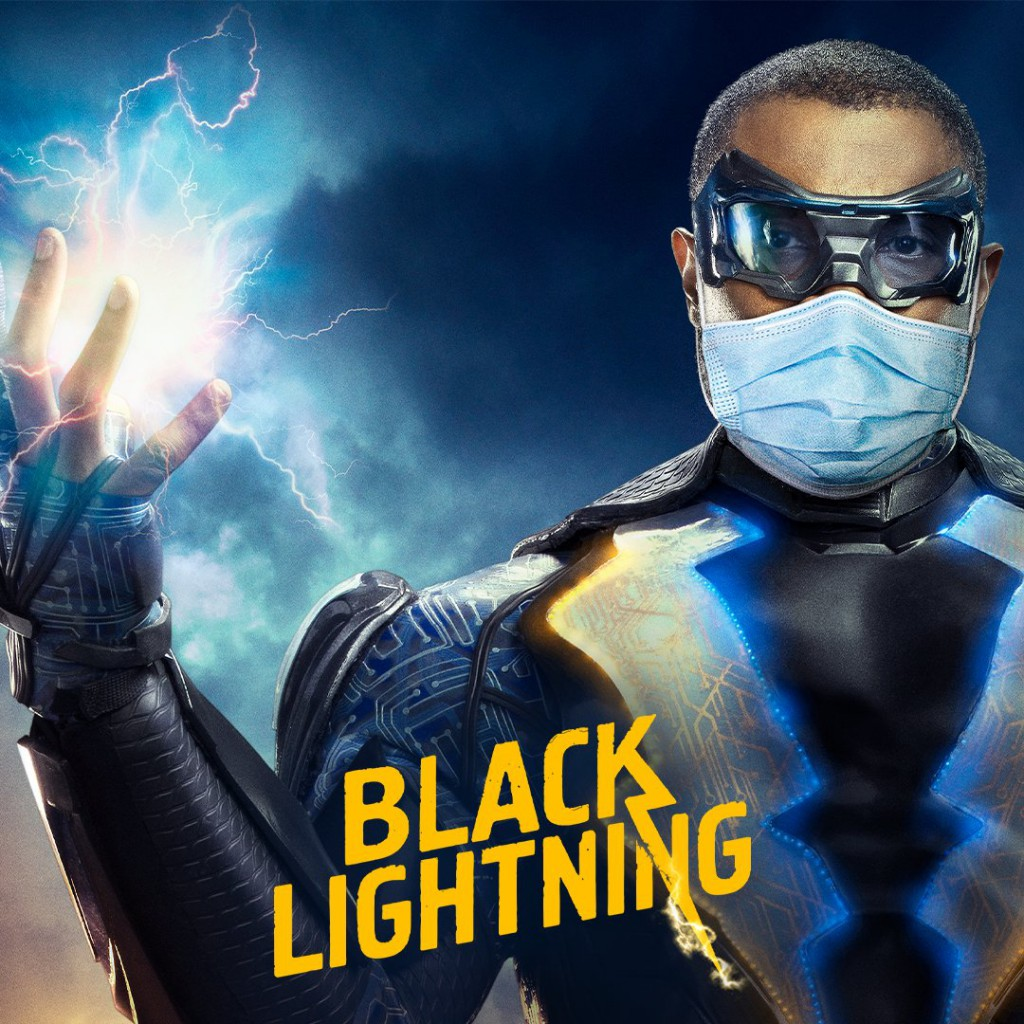 Black Lightning Wearing Mask