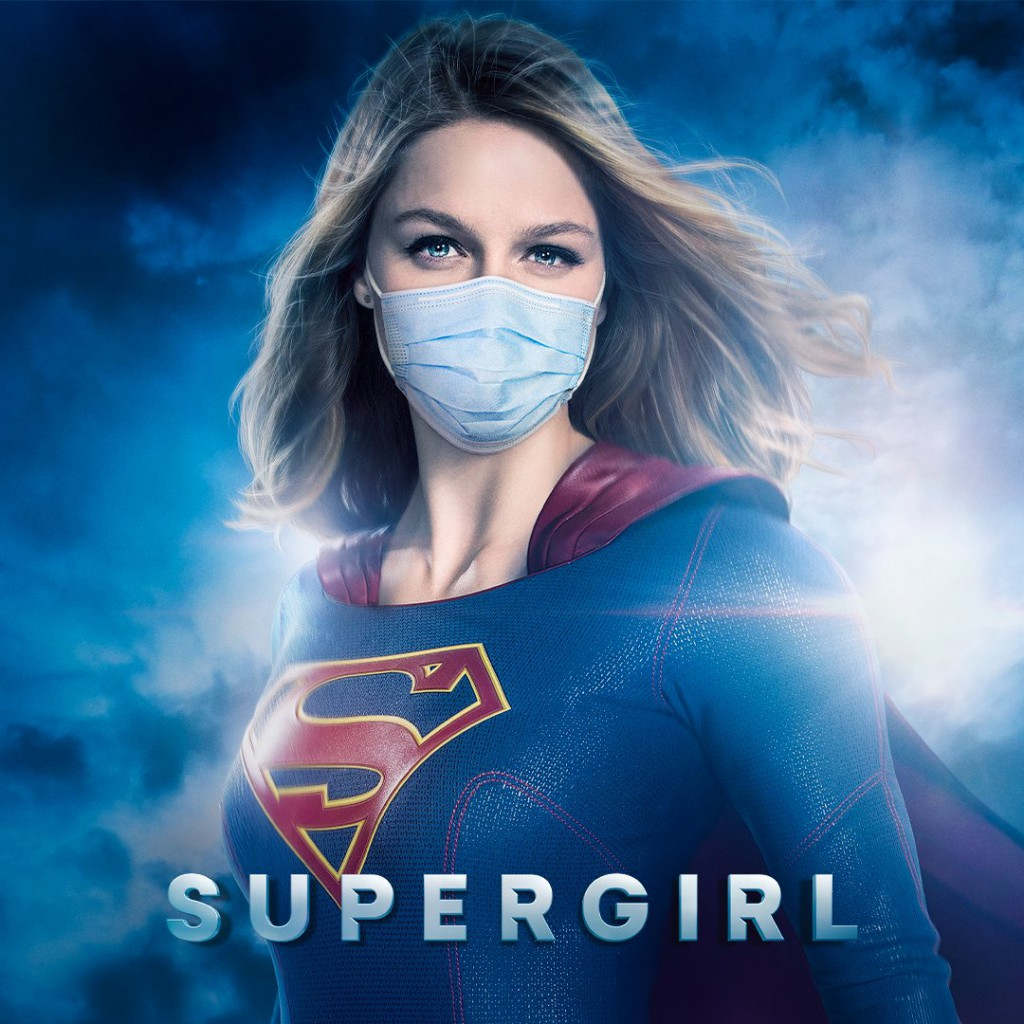 Supergirl Wearing Mask