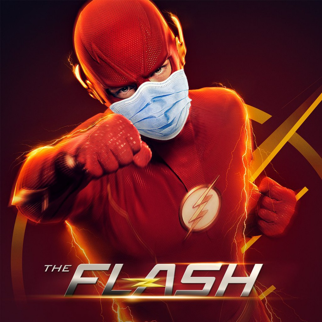 The Flash Wearing Mask