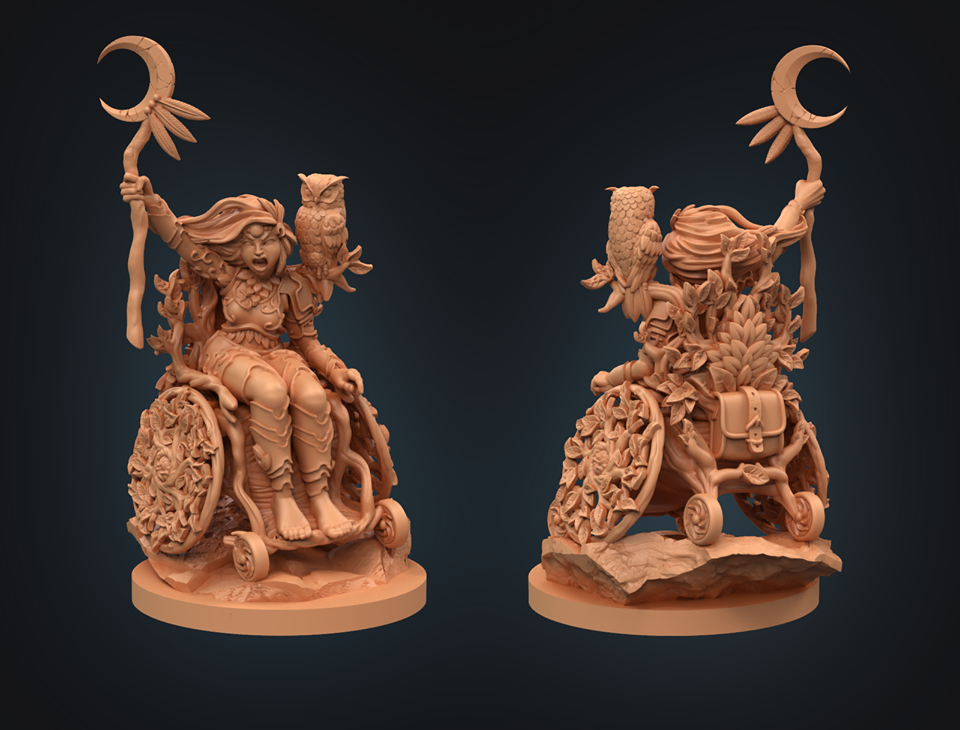 Strata Miniatures - Human Druid