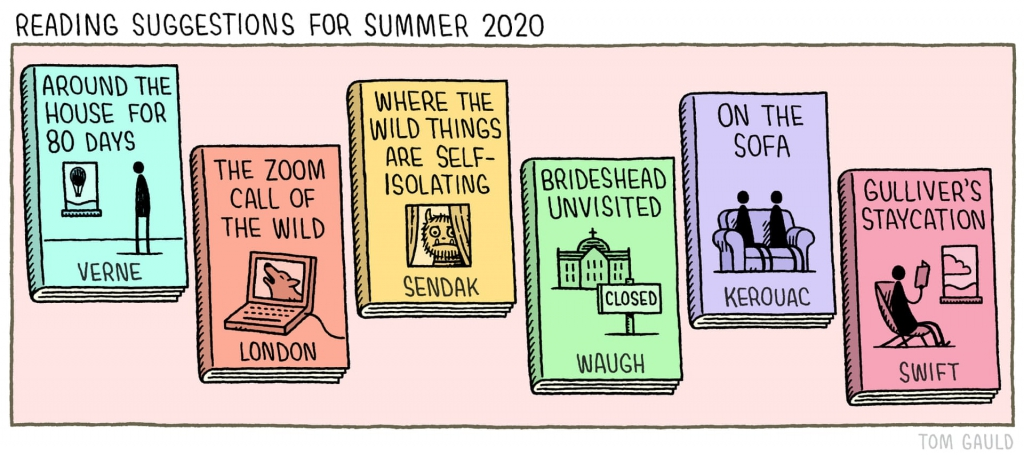 Tom Gauld Reimagines Literary Classics for COVID-19