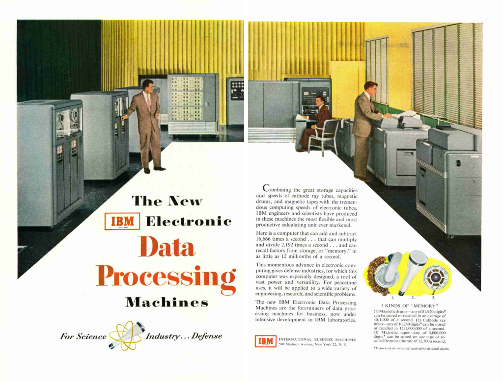 1953 Ad for the IBM 701