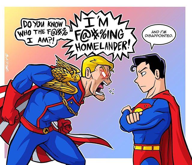 Superman Meets Homelander