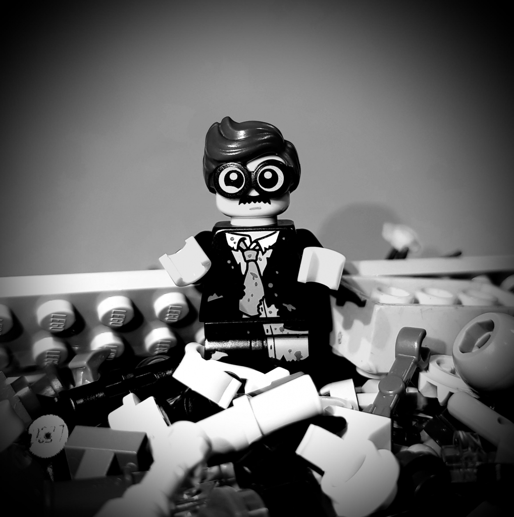 "Twilight Zone ""Time Enough At Last"" - Lego Henry Bemis"