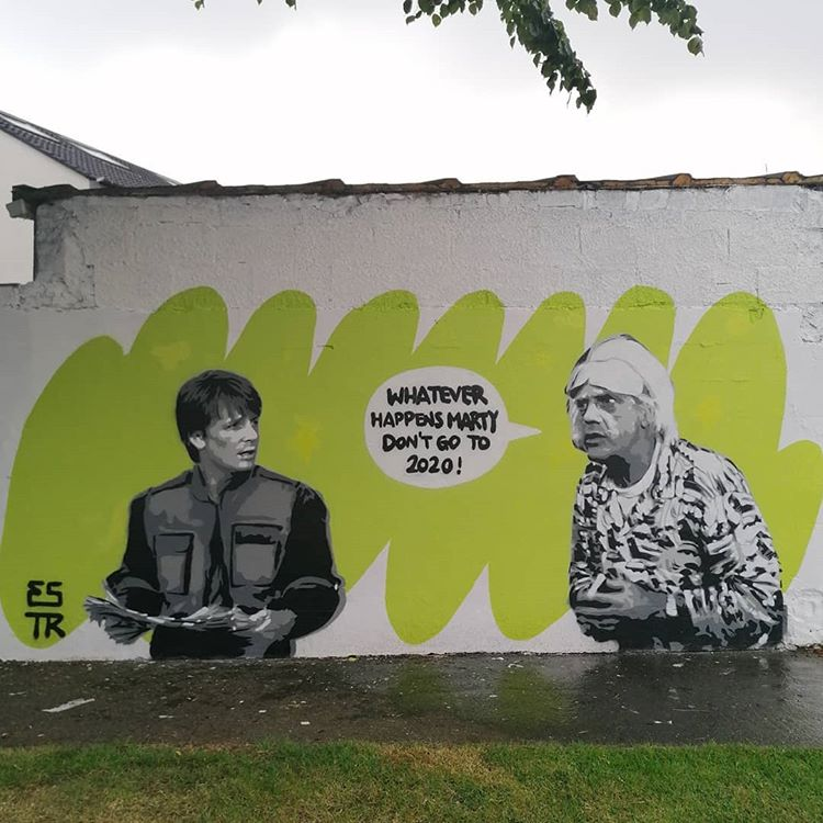 Back to the Future 2020 Meme, Street Art Version