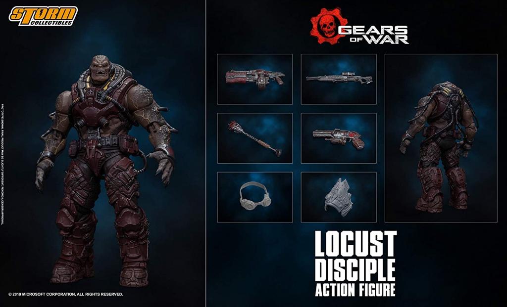 Gears Tactics - Locust Disciple Action Figure