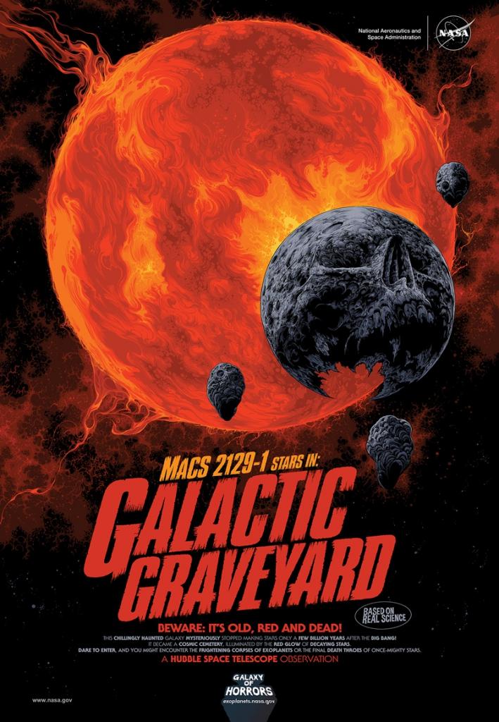 NASA Halloween Poster - Galactic Graveyard