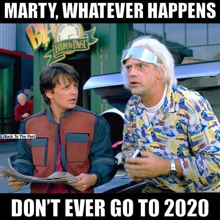 Back to the Future Meme - Marty, Whatever Happens, Don't Ever Go to 2020