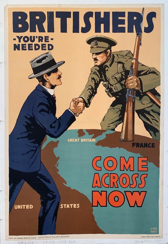 World War I Propaganda Poster - Britishers, You're Needed