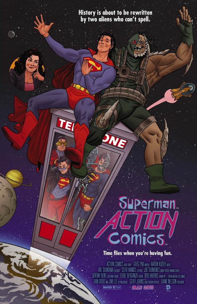 Action Comics #40 - Bill & Ted's Excellent Adventure Variant Cover by Joe Quinones