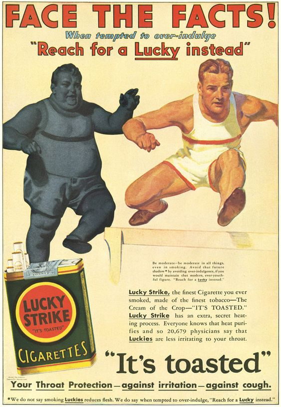 Face The Facts - Lucky Strikes Cigarette Ad