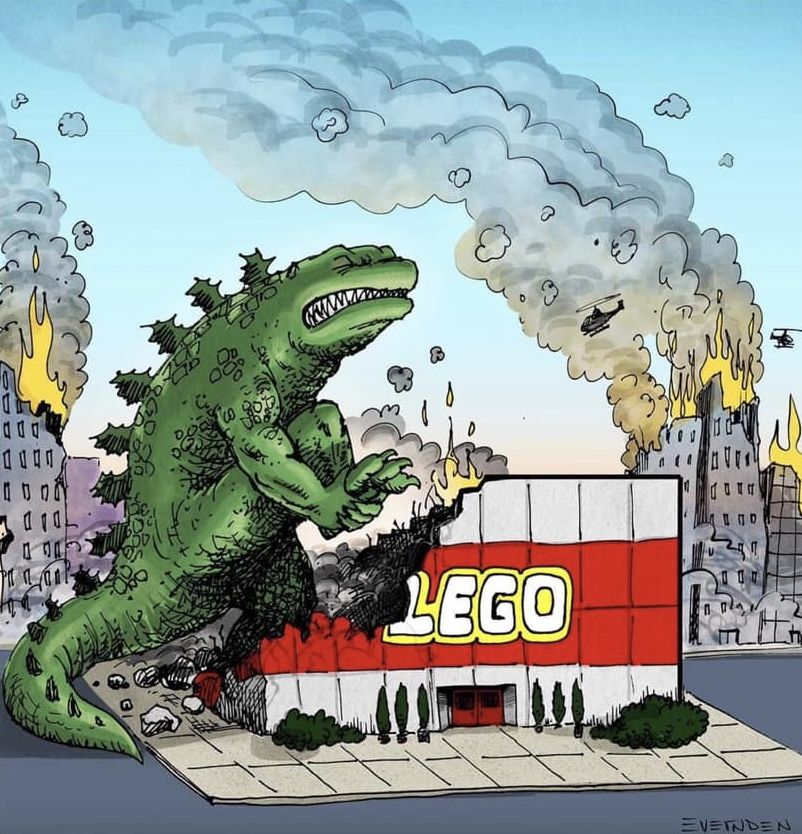Godzilla Steps on a Lego Store