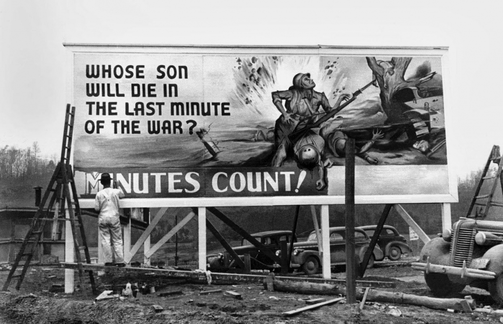 World War II Billboard - Whose son will die in the last minute of the war? Minutes count!