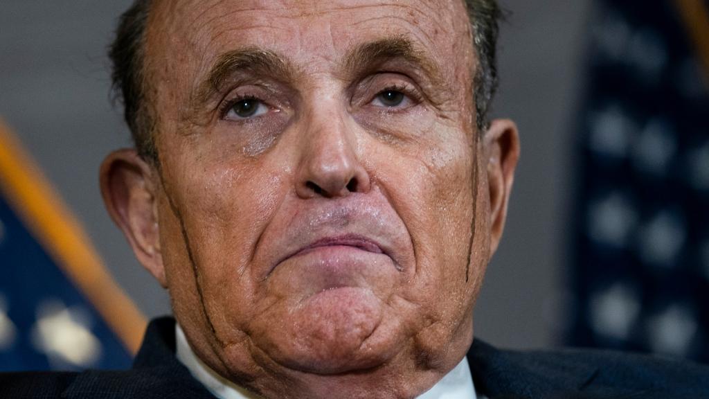 Rudy Giuliani - The Hair Dye Incident