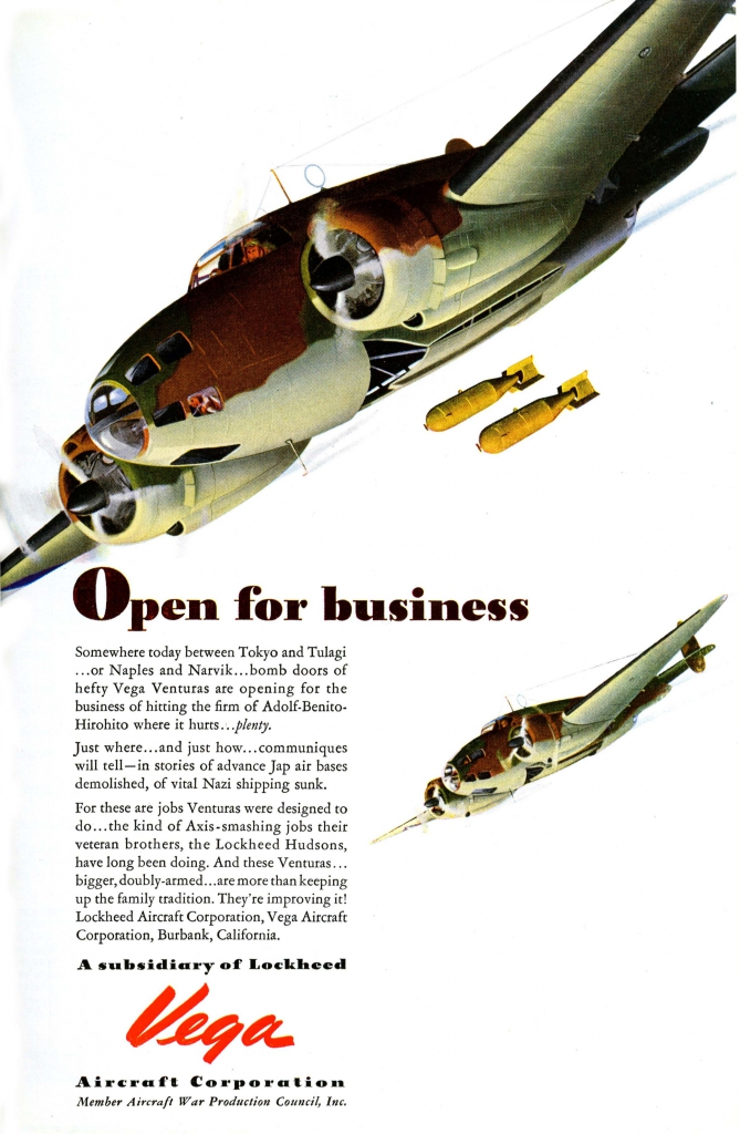 Vega Aircraft Corporation - Open For Business Ad