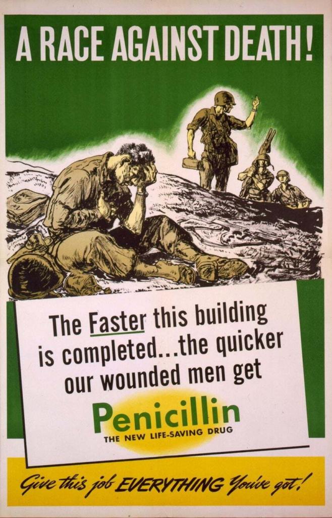 World War II Propaganda Poster - A Race Against Death!