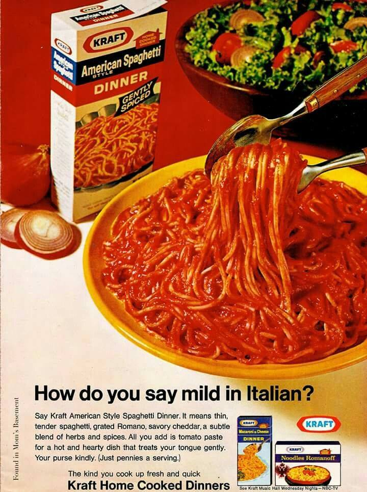 1970s Kraft Spaghetti Ad