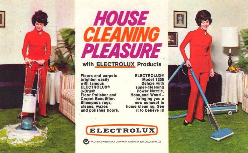 Electrolux Ad: House Cleaning Pleasure