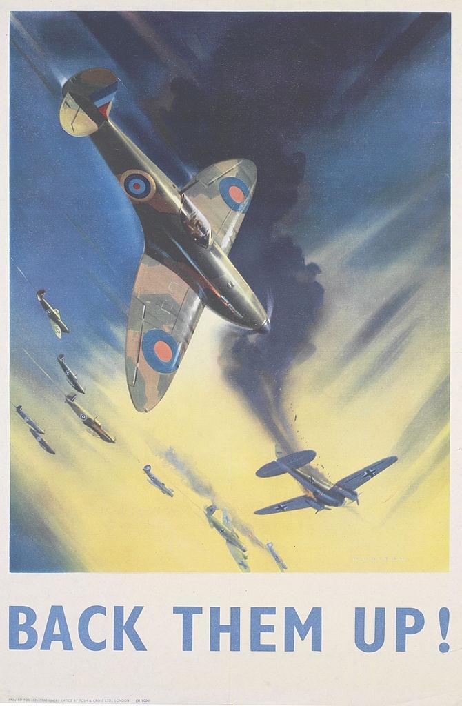 British World War II Propaganda Poster - Back Them Up!