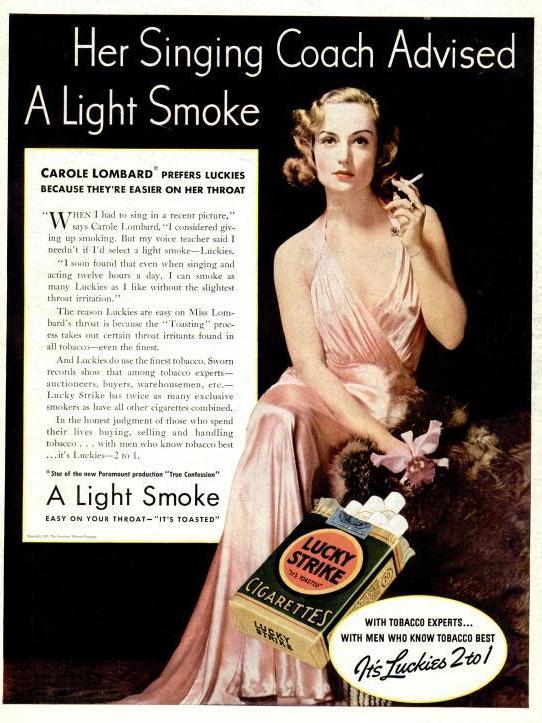 Ad: Carol Lombard Prefers Luckies