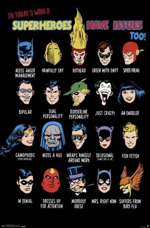 Superheroes Have Issues Too! T-Shirt