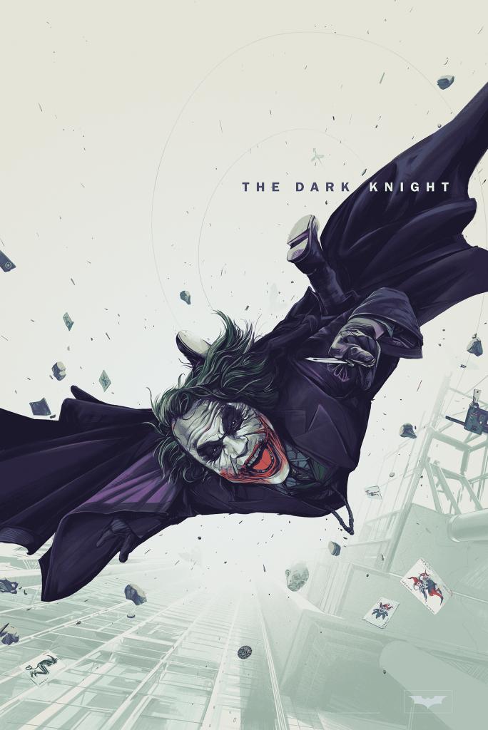 The Dark Knight Variant Movie Poster by Oliver Barrett