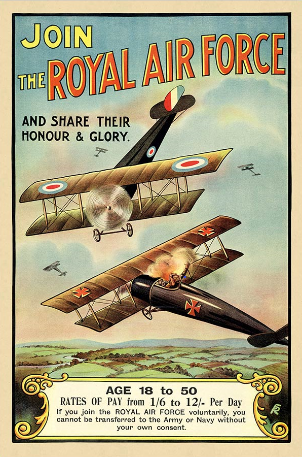World War I Propaganda Poster - Join The Royal Air Force
