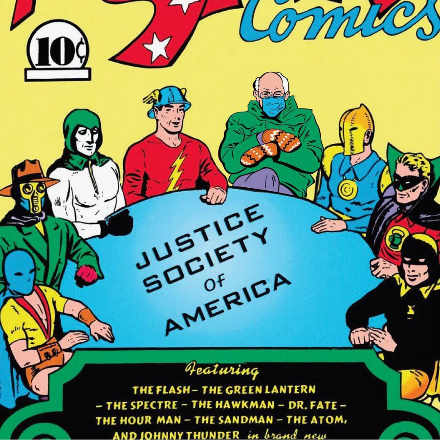 Bernie Sanders Joins the Justice Society of America