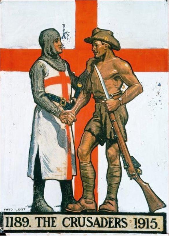 Australian World War I Propaganda Poster - The Crusaders