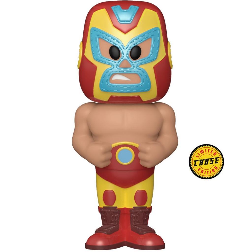 Funko Vinyl Soda - Marvel Luchadores - Iron Man (Chase Figure)