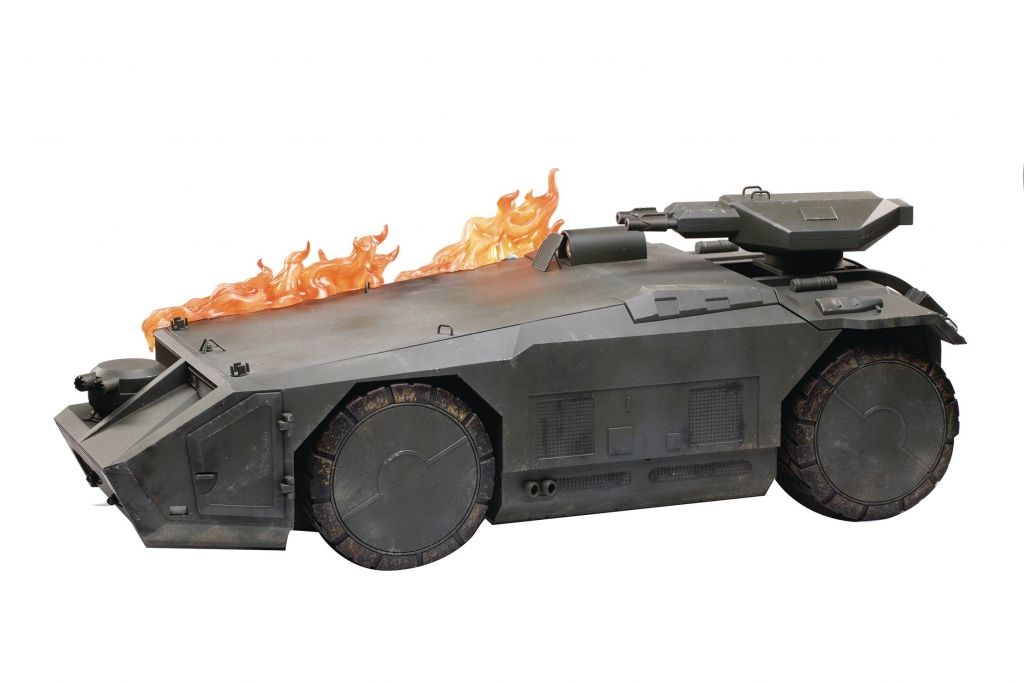 Aliens Burning Armored Personnel Carrier