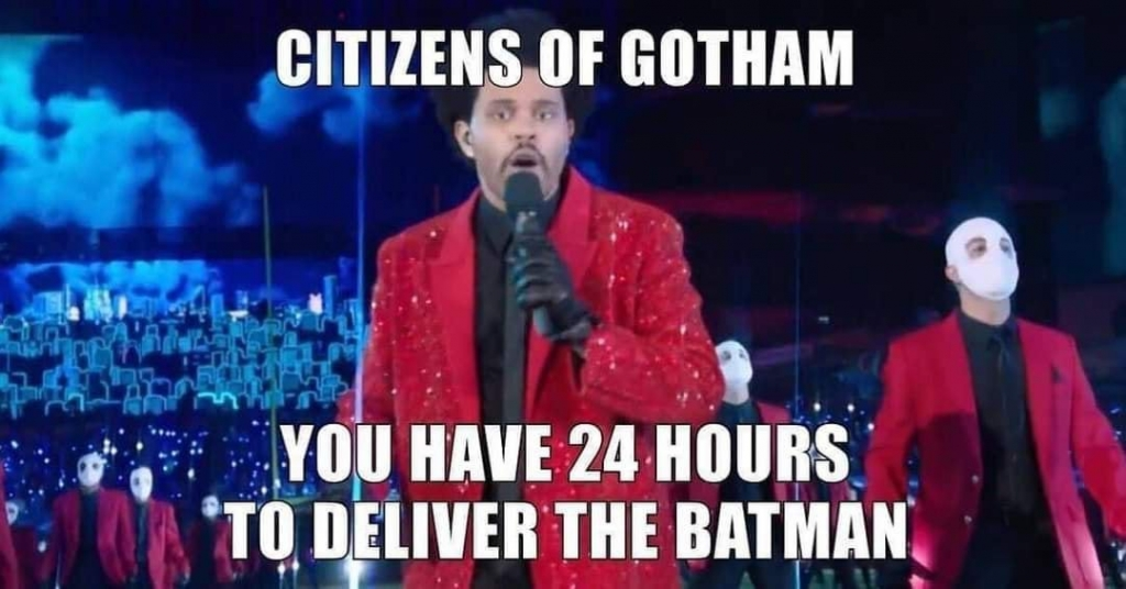 The Weeknd Super Bowl Meme - Citizens of Gotham