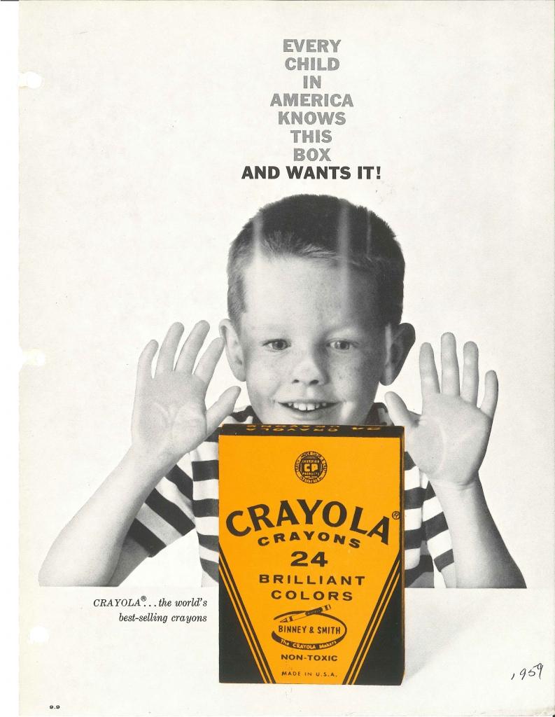 Crayola Crayon Ad, 1959