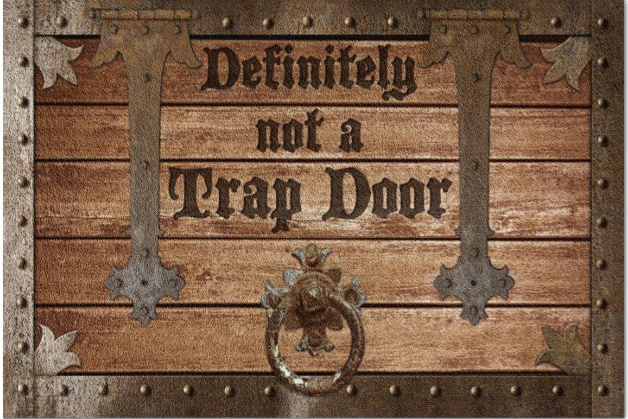 Definitely Not A Trapdoor Doormat
