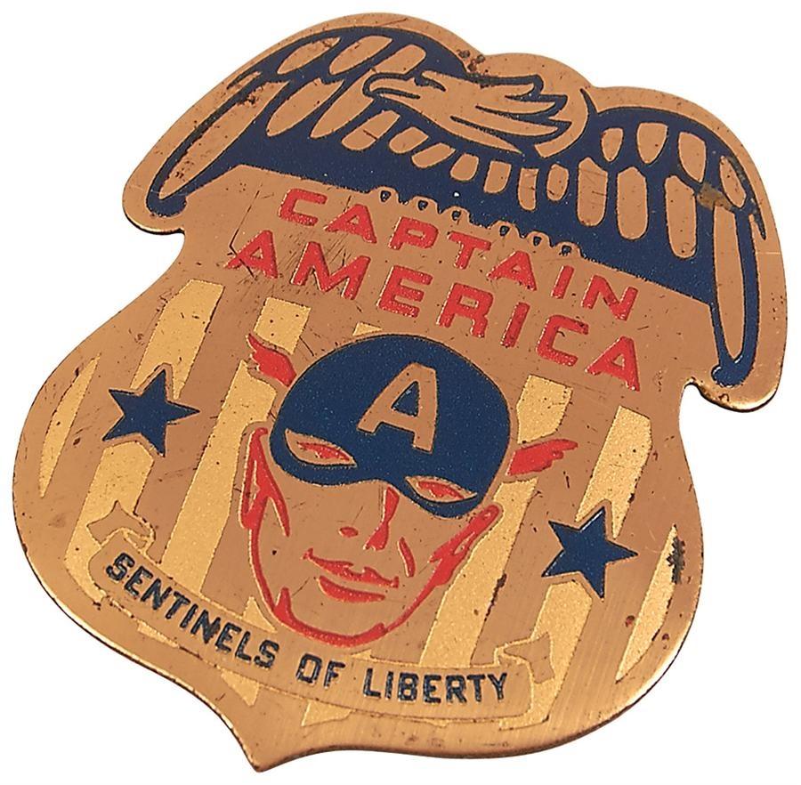 Captain America's Sentinels of Liberty Enamel Badge