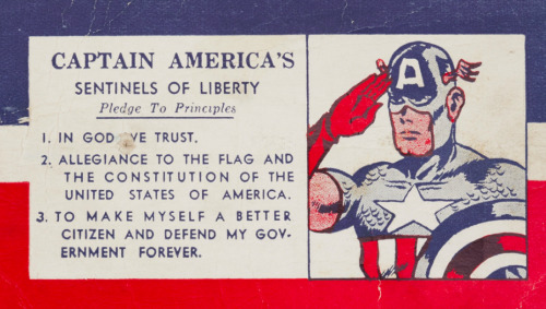 Captain America's Sentinels of Liberty Membership Card