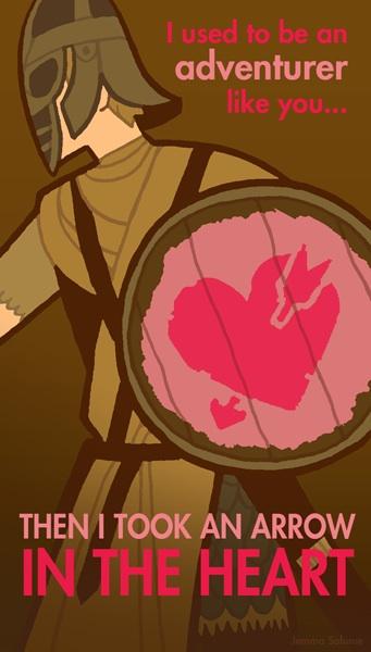 Skyrim Valentine's Day Card