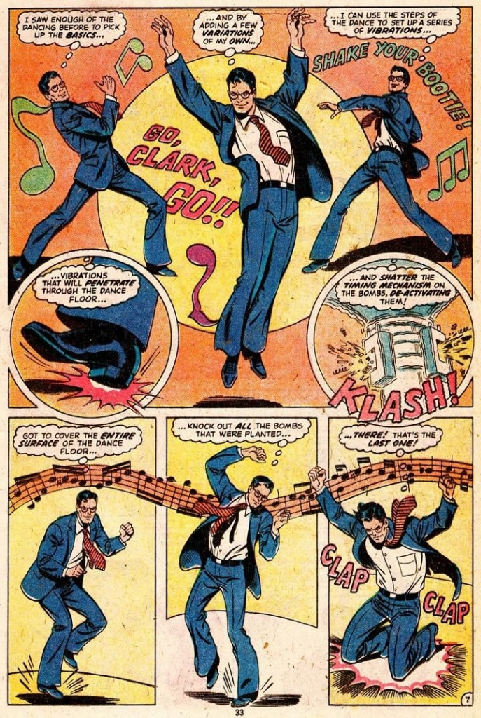 Superman Family #196 - Superman Disarms Bomb By Dancing