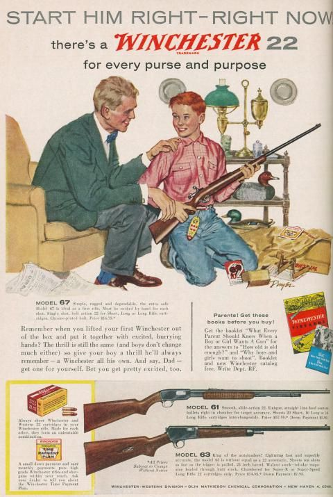 Winchester 1950s Ad - Start Him Right