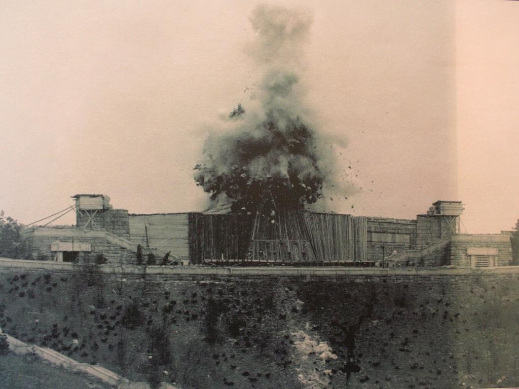 Destruction of Stalin's Monument