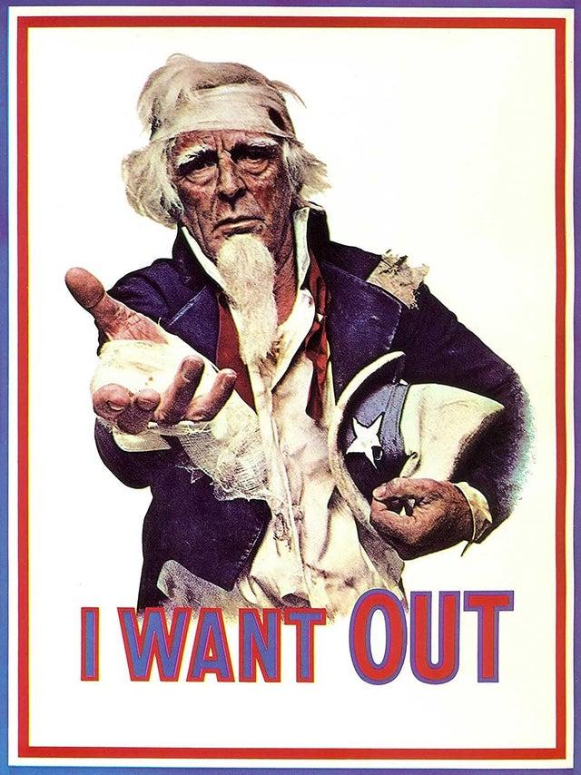 Anti-Vietnam War Propaganda Poster: I Want Out