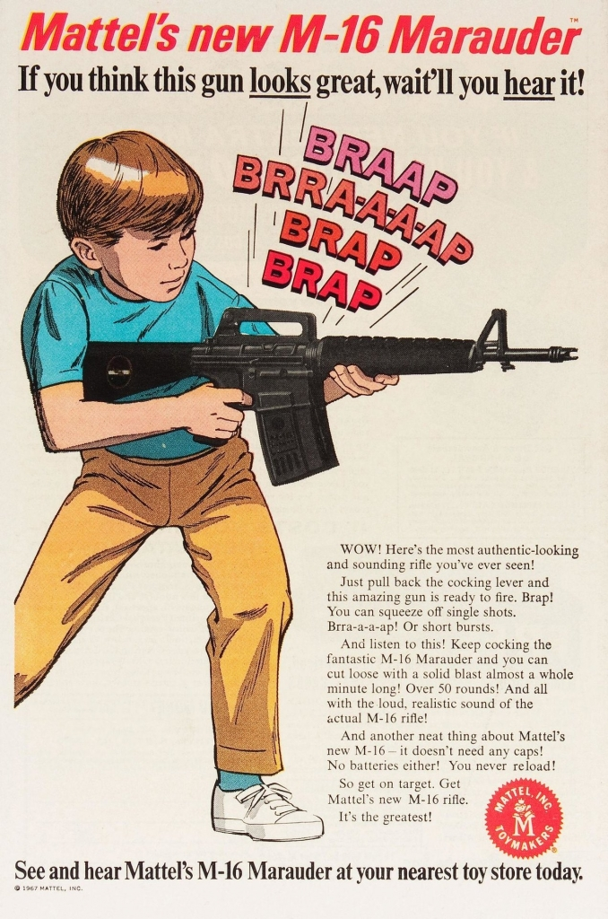 Mattel M-16 Marauder Ad, 1967