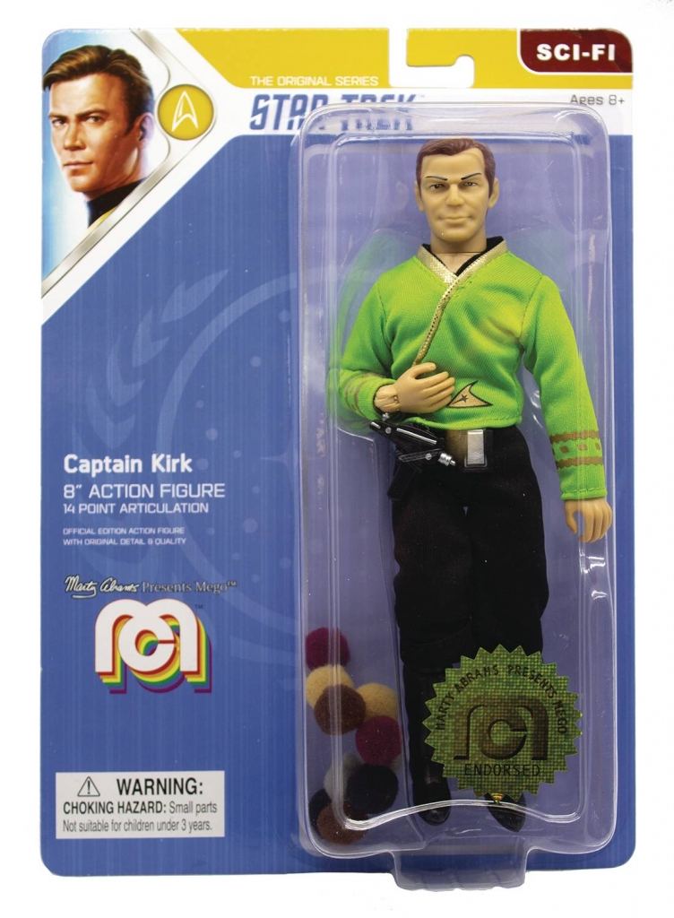 """Mego Star Trek Action Figure - Captain Kirk (""""The Trouble With Tribbles"""")"""