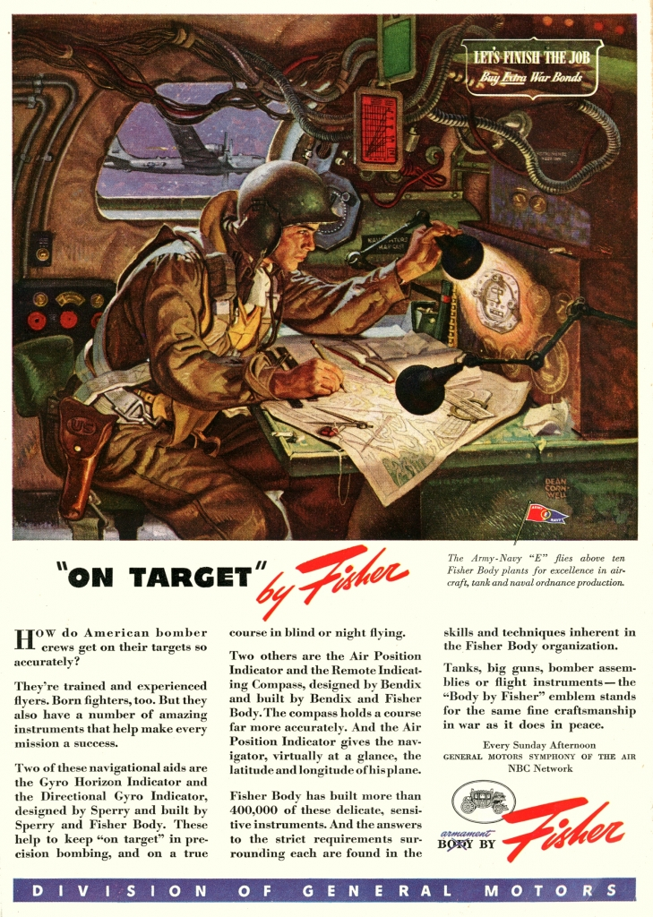 "World War II Fisher ""On Target"" Ad"
