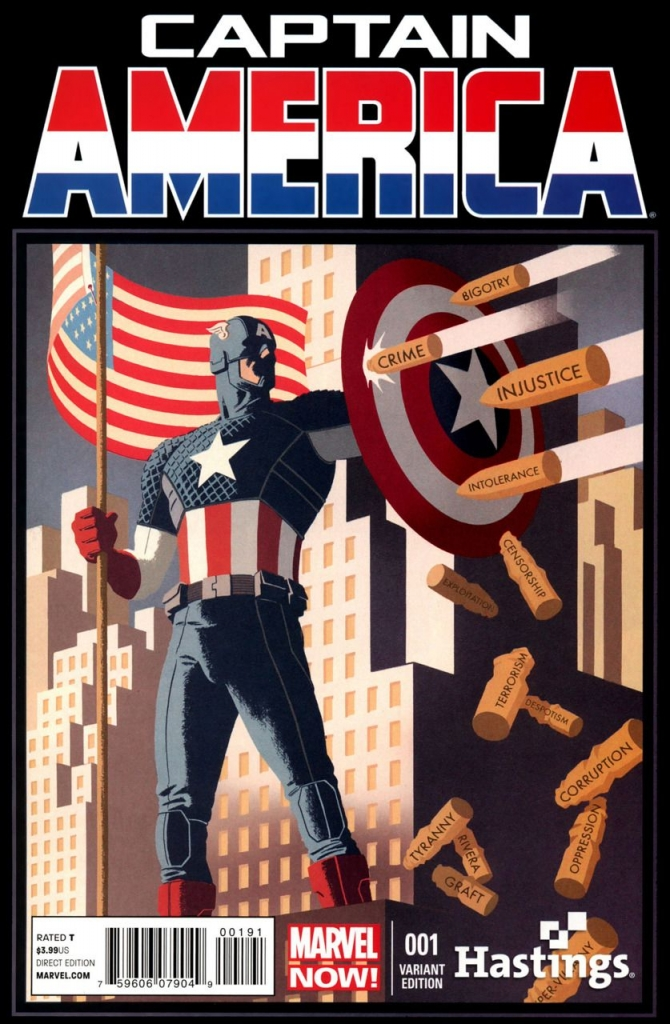 Captain America No. 1, Variant Cover by Paolo Rivera