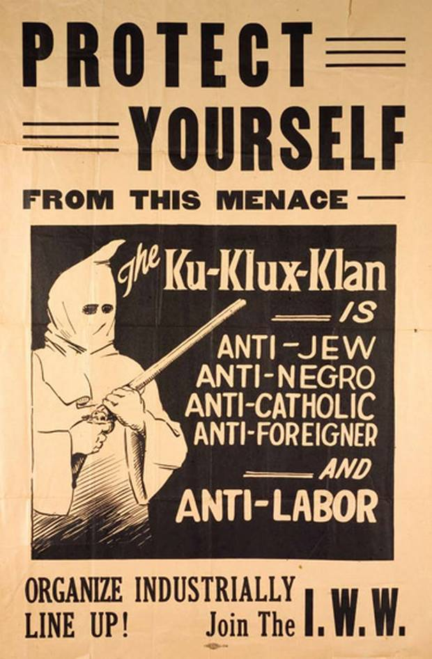 1920s Anti-Klan Poster - Protect Yourself From This Menace
