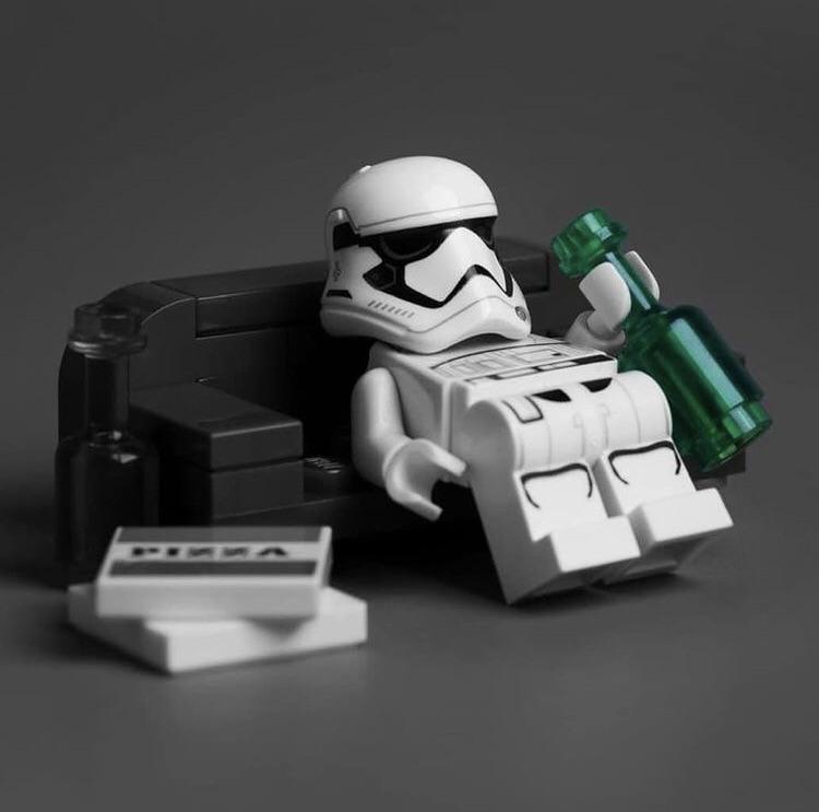 Lego Stormtrooper With Beer